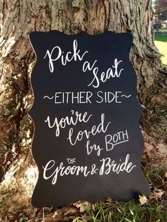 Pick a Seat Wedding Ceremony Sign