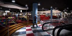 Splitsville Interior Concept Art at Downtown Disney, Walt Disney World (Click image to view full-sized version)