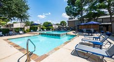 Amenities at our community include a clubhouse, covered parking, swimming pool with sundeck, and dog park. #ReNewHolidayHill #IAmRenewed #TX #Apartments #Amenities Midland Texas, Dog Park, Apartments, Swimming Pools, Tours, Community, Outdoor Decor, Holiday, Design