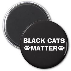 Black Cats Matter - Paw Print Magnet