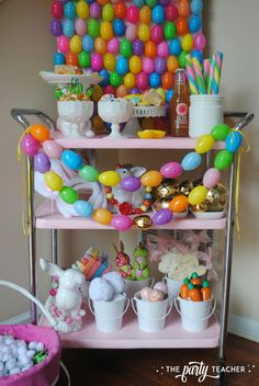 Easter Bar Cart by The Party Teacher - bar cart