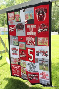Maiden Jane: High School Memory Blanket with Photos and a Border Graduation Presents, High School Graduation, Graduation Ideas, Graduation Cake, Graduation Celebration, High School Memories, Homemade Christmas Gifts, Grad Parties, School Spirit