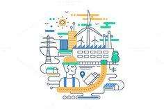 Alternative Energy Illustration. Business Infographic. $5.00