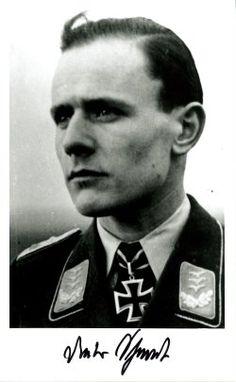✠ Dietrich Schmidt (27 June 1919 – 6 March 2002) RK 27.07.1944 Oberleutnant (Kr.O.) Staffelkapitän 8./NJG 1