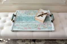 Shabby Vintage Tray~Best of DIY - All Things Heart and Home #decoartprojects #chalkyfinish