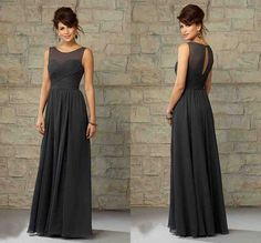 Bridesmaid Dresses In Grey