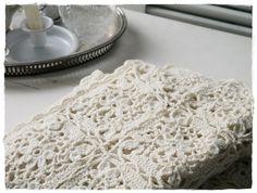 beautiful white lace crochet