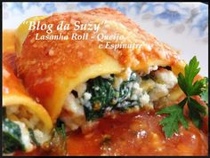 Blog da Suzy : Lasanha Roll