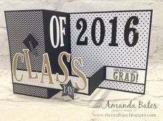 The Craft Spa - Stampin' Up! UK independent demonstrator : Class of 2016/Graduation Large Square Pop Up Z Fold Cards