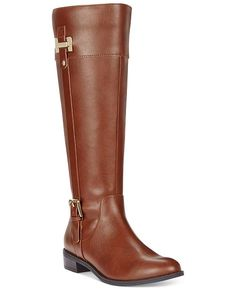 db739c61ad0e Karen Scott Deliee Wide-Calf Riding Boots Color  Cognac Size  9 M Tall