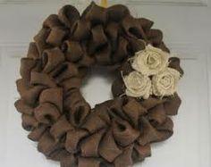 burlap wreath - Google Search