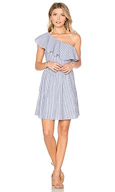 One Shoulder Stripe Mini Dress