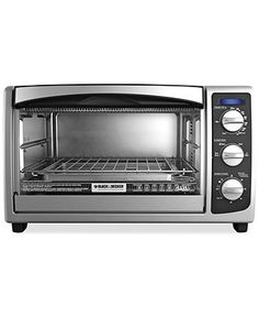 Black & Decker toaster oven — one item you and the hubby will certainly get some use out of