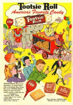 Tootsie Roll Circus Ad