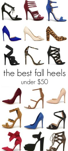 Looking for cute fall heels that won't drain your bank account? This post shows dozens of beautiful heels under $50!