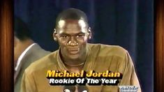 Michael Jordan 1985 Rookie of the Year Speech (VIDEO)
