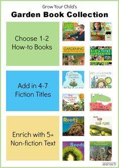 Gardening Books for Kids. Explore books based on plants and seeds for various ages including fiction and non fiction titles.