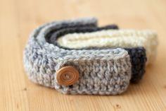 Girls Crochet Headband  for babies or girls by LumiereOnline, £8.95
