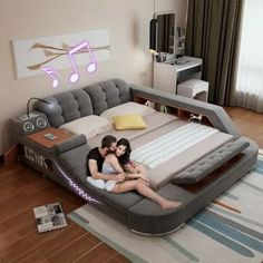 Massage bed tatami bed fabric bed double bed storage bed m bed modern minimalist bedroom - HelpUtao Taobao Agent Singapore - Online Shopping - English Taobao - Fashion, Electronics, Home & Garden Bedroom Furniture, Home Furniture, Bedroom Decor, Bedroom Ideas, Furniture Ideas, Smart Furniture, Corner Furniture, Wood Bedroom, Upcycled Furniture
