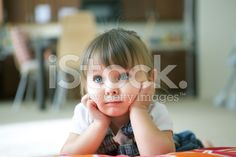 Thoughtful Little Girl royalty-free stock photo
