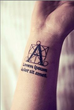 typography tattoo