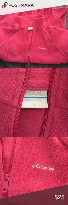 Columbia women's fleece  jacket size medium Size medium, Columbia fleece jacket bright pink, normal wear, no holes Columbia Jackets & Coats