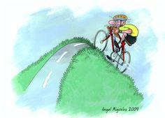 Zeichnung Fahrradfahren von Angel Miguelez