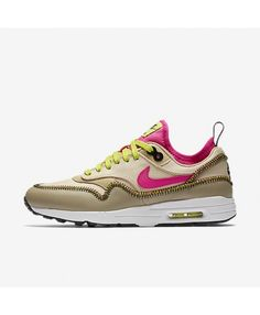 the best attitude c4c4a babbd Womens Nike Air Max 1 Ultra 2.0 Si Mushroom Summit White Bamboo Deadly Pink  Trainer Nike