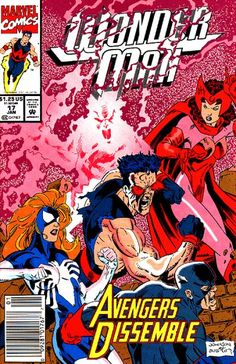 Wonder Man Vol. 2 # 17 by Jeff Johnson & Terry Austin Comic Book Covers, Comic Books Art, Comic Art, Book Art, Avengers Universe, Superman, Batman, Wonder Man, Steve Ditko