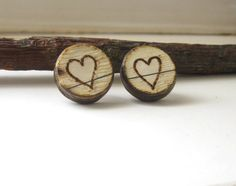 Fake Gauges  Plugs  Paper Jewelry Earrings  Hearts by PaperMemoirs, $10.00