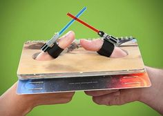 Star Wars Lightsaber Thumb Wrestling 0 Solve Disputes Among Friends with the Star Wars Lightsaber Thumb Wrestling Set