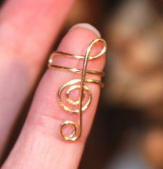 Treble Clef Ear Cuff Treble Clef Ear Wrap Non by BirchBarkDesign, $10.95