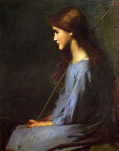 Little Shepherdess - Jean-Jacques Henner  19th century