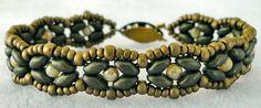 Linda's Crafty Inspirations: Bracelet of the Day: SuperDuo Rosette Variation
