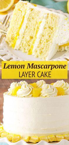 Lemon Dessert Recipes, Best Cake Recipes, Lemon Recipes, Baking Recipes, Light Lemon Cake Recipe, Best Lemon Cake Recipe, Lemon Layer Cakes, Lemon Cakes, Coconut Cakes