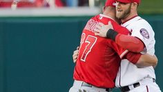 Game respects game: Trout says it's 'good for baseball' Harper injury isn't bad