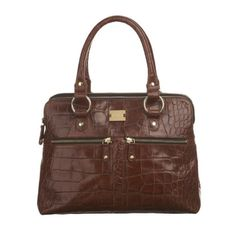 modalu pippa bag in brown croc!