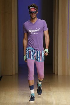 """""""Past meets future in Miami"""", SS/2015 collection, 080 Barcelona Fashion, men underwear. By Punto Blanco with Juan Betancourt."""