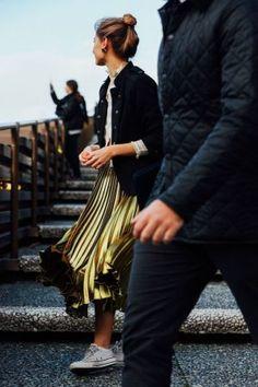 Comment porter une jupe métallisée en 2016? - Ele Nuki