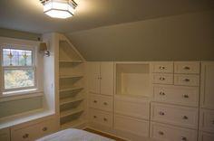 terrific built-ins maximize storage in an attic bedroom  - seattle - Kitchen  Bath Design Center