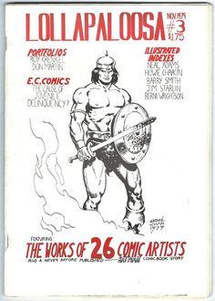 Lollapaloosa #3 Comic Book Fanzine Magazine Barry Windsor Smith Berni Wrightson - Hellboy