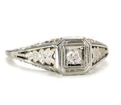 Art Deco Sparkle in a Diamond Ring - The Three Graces