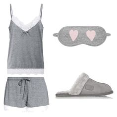 """""""Grey Pyjamas"""" by sara-beatrice-lazar ❤ liked on Polyvore featuring Anna Field, Australia Luxe Collective and Chinti and Parker"""