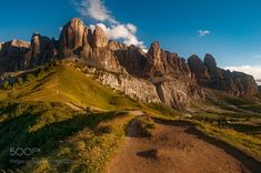 http://500px.com/photo/188922061 The giant by Marco-Carotenuto -One of the places that most fascinated me in my country. Places and scenarios incredibles the accompaniment of a lovely light. Tags: mountainspeopletravelcloudsitalytravellermountaincloudexplorationtrekkingexploringdolomitiexploreLandscape