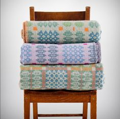 Traditional Welsh tapestry blankets