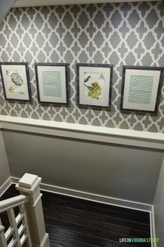 How to transform a basement staircase with stencils