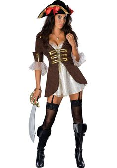 Sexy Halloween Costumes for Women, 2019 Adult Halloween Costume Ideas Sexy Pirate Costume, Pirate Fancy Dress, Pirate Halloween Costumes, Ladies Fancy Dress, Halloween Cosplay, Adult Costumes, Costumes For Women, Halloween Makeup, Halloween Ideas