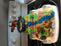 Home made skylanders birthday cake.