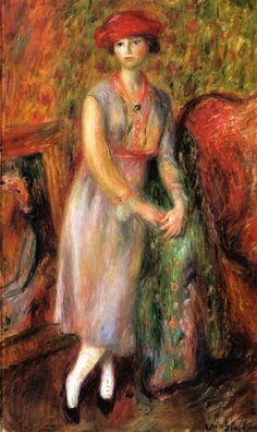 Standing Girl in White Spats painting - Renoir