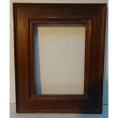 marco antiguo siglo xx madera de cerezo
